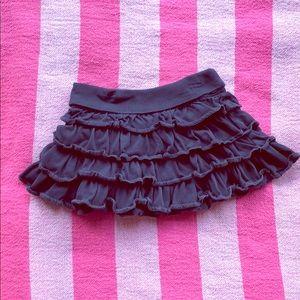 Gap kids girls' Navy Blue ruffle tier skirt-S 6/7